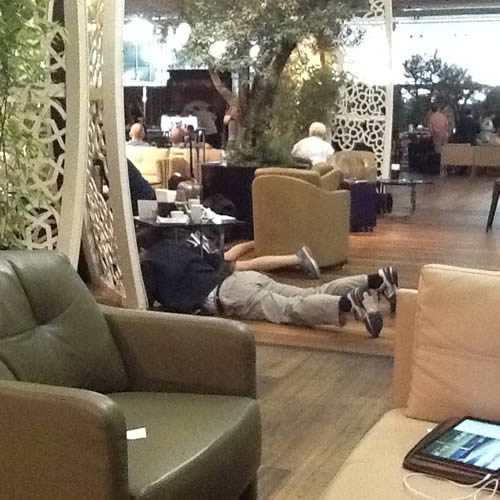 Business lounge at Istanbul Airport during the coup