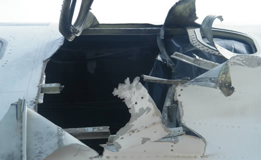 Damaged plane to be repaired